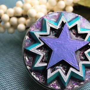 Starburst Jewelry Tin trinket box, rings, earrings